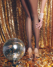 Patterned backseam sheer tights with shiny Lurex Conte Elegant Insight