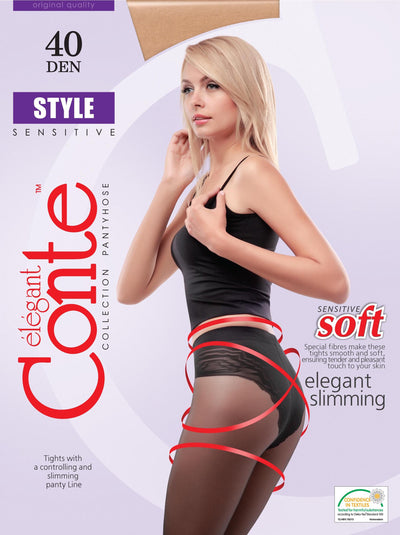 Slimming belly tights STYLE 40 den