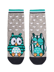 Owl sock is crazy happy Conte Elegant women's Socks