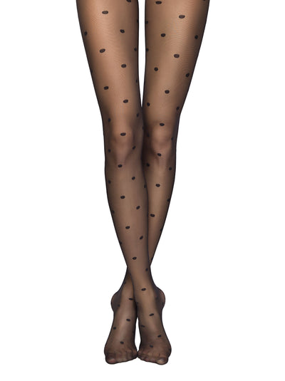 Patterned sheer polka dot tights pantyhose Conte Elegant Desire