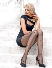 Patterned polka dot tights pantyhose Desire by Conte Elegant