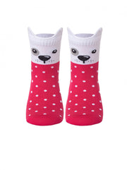Polka dot cute baby socks with puppies by Conte-Kids