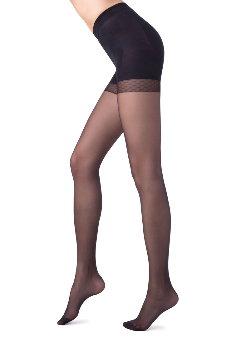 Shapewear slimming modelling push-up tights black pantyhose 20 denier X-Press