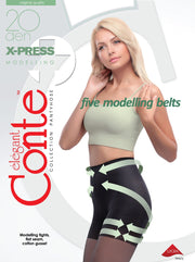 Push-up modelling tights X-PRESS 20 den