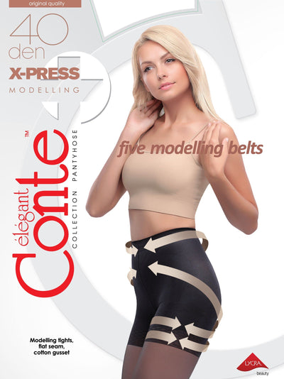 Push-up modelling tights X-PRESS 40 den