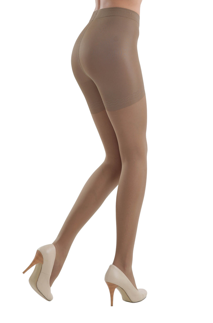 Shapewear support hose push-up tights tan pantyhose with compression panties 40 denier control