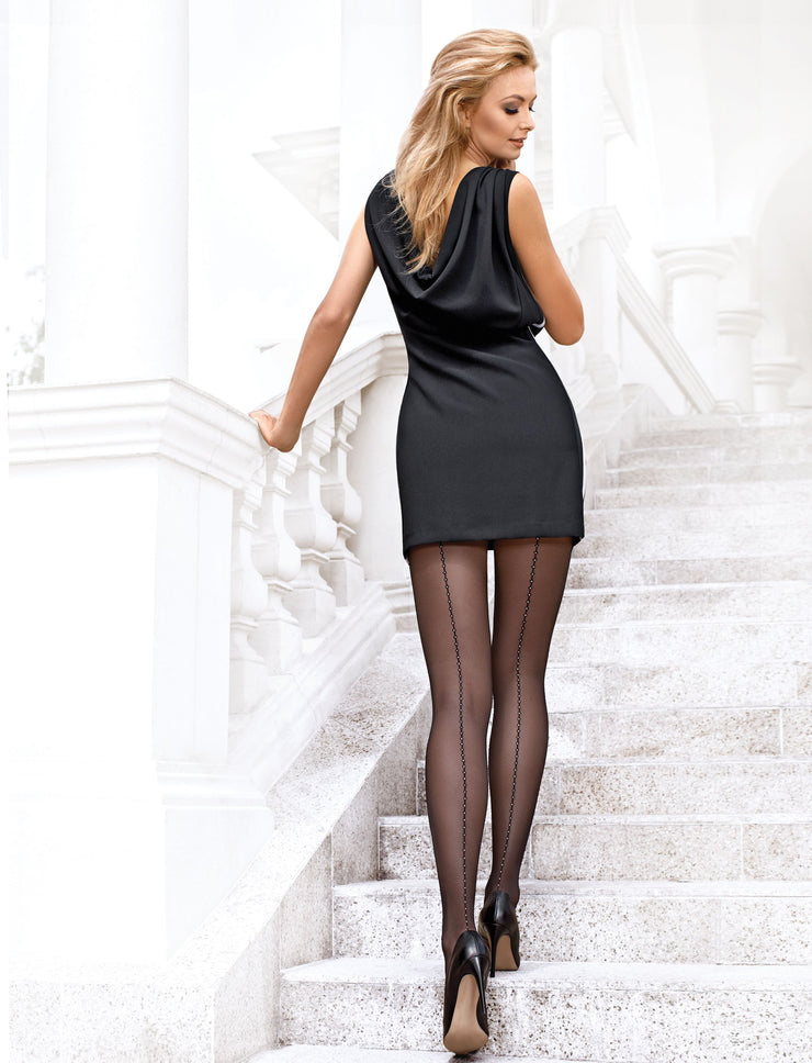Sheer backseam tights pantyhose Insight by Conte Elegant