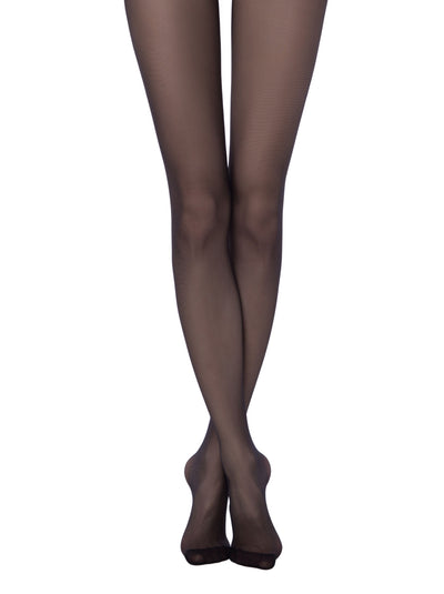 Sheer tights black pantyhose 20 denier Prestige Conte Elegant