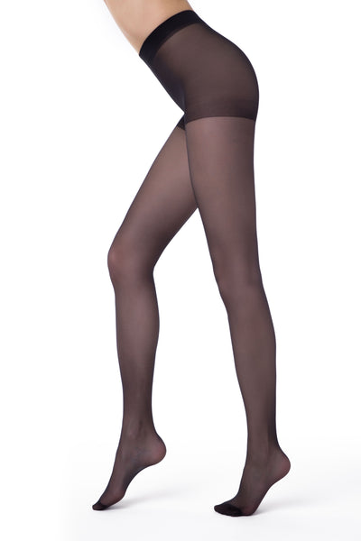 Plus size sheer tights black pantyhose 20 denier Nuance Conte Elegant