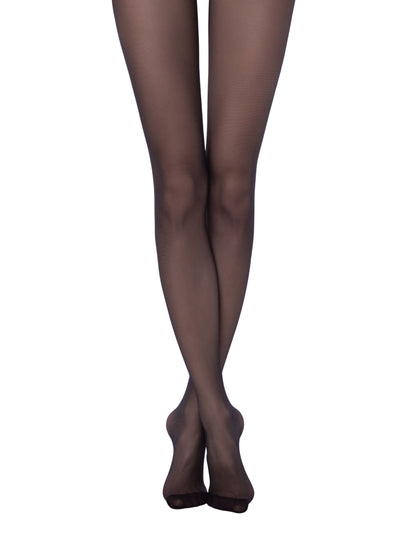 Sheer tights black pantyhose 20 denier Conte Elegant Tango