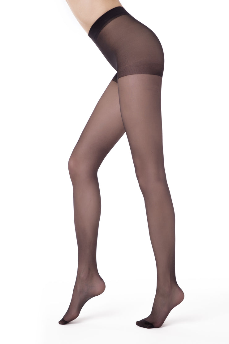 plus size sheer tights grey pantyhose 20 denier Nuance Conte Elegant