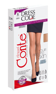 Sheer tights pantyhose 8 denier Dress Code
