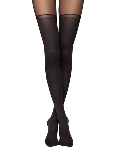 Suspenders stockings hold ups black tights pantyhose luxury stockings Chance by Conte Elegant