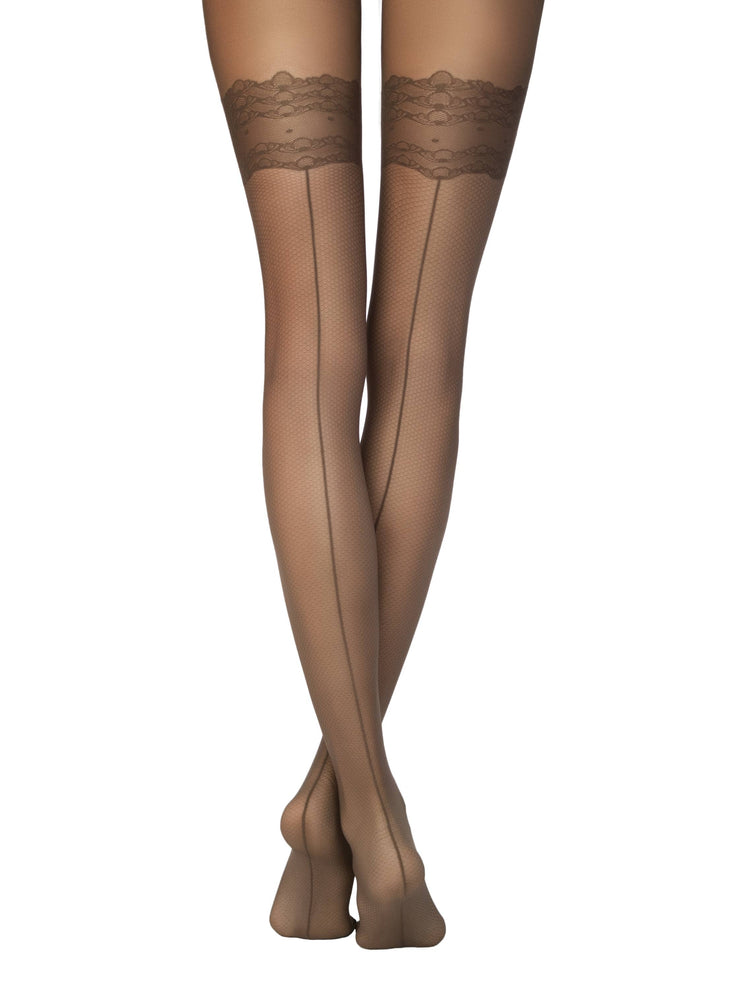 Tights with imitation stockings ESSENCE