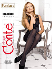 Tight melange tights DIAMOND