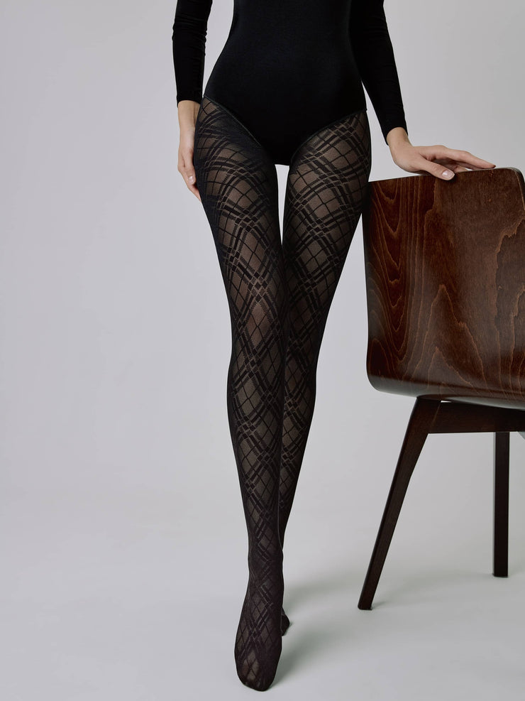 Women's geometric tights CONTE ELEGANT MEGAN