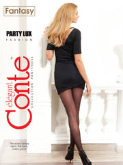Tights with an imitation lurex seam and a shiny pattern PARTY LUX
