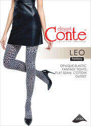 Tights with leopard print LEO.