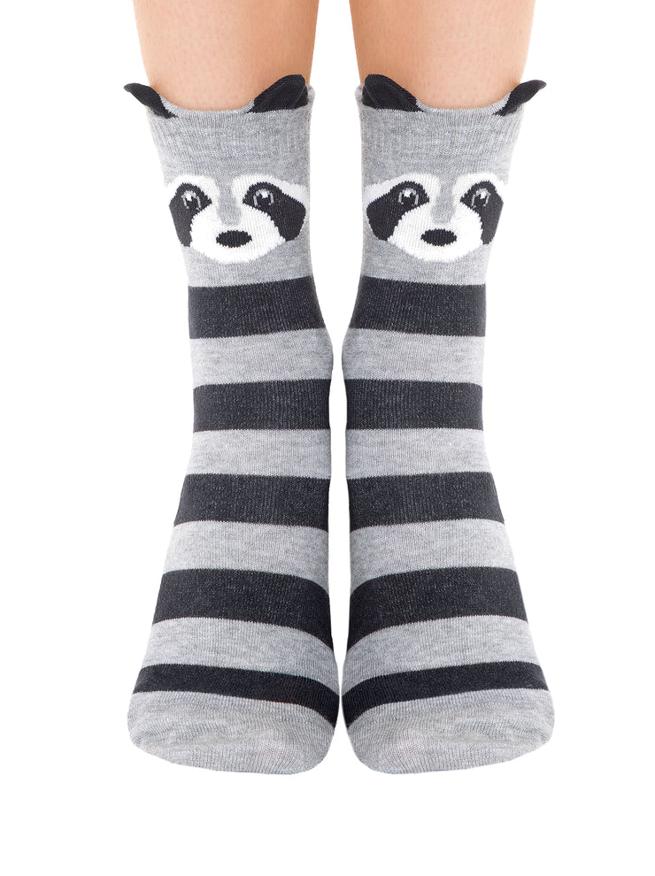 Women's funny grey cotton Socks family look by Conte Elegant