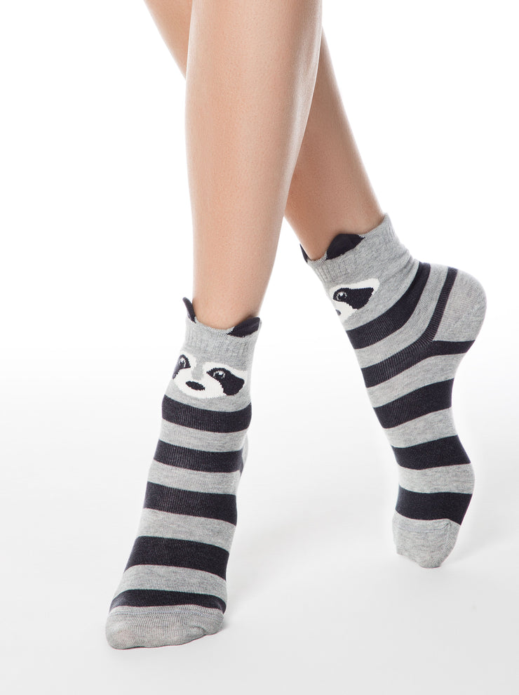 Fany raccoon socks