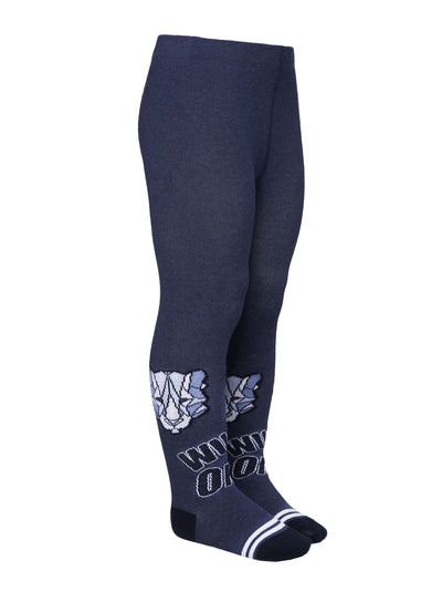 Baby boy tights navy blue color toddler tights by Conte-Kids