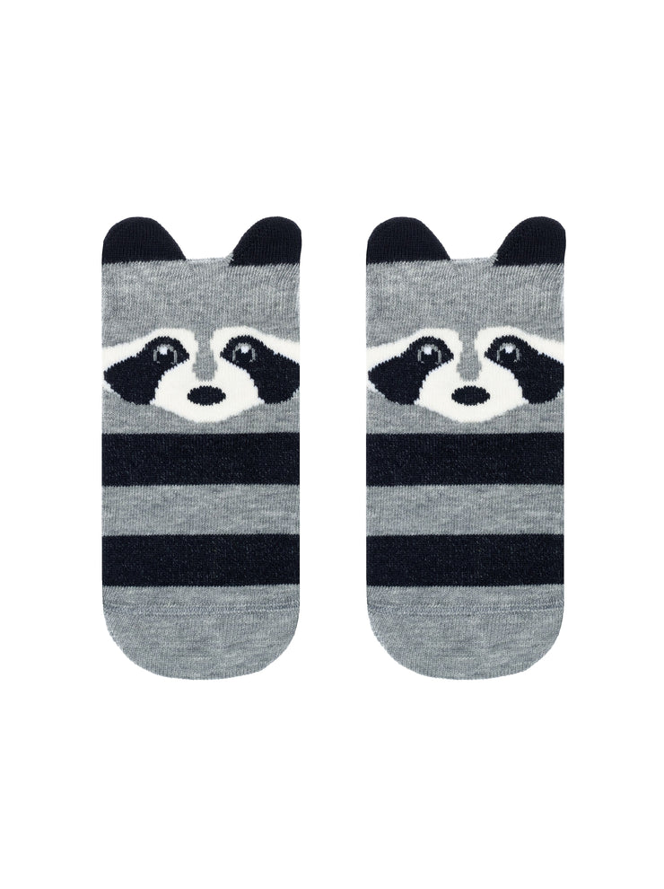 Baby socks grey color with raccoon by Conte-Kids