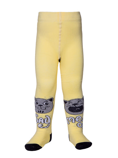 Yellow baby tights for boys and girls toddler kids tights by Conte-Kids