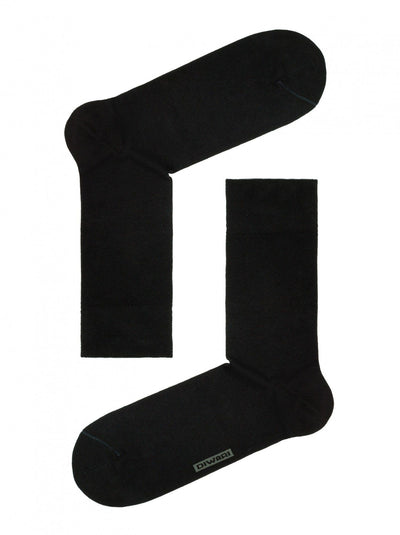 Black Men's Bamboo Socks, Crew Socks by DiWaRi