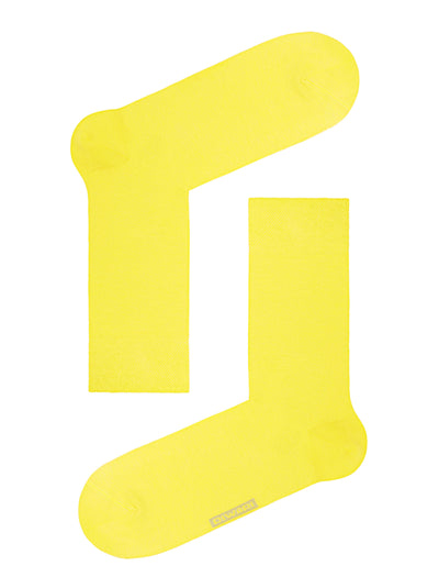 Yellow Happy Men's Crew Socks by DiWaRi