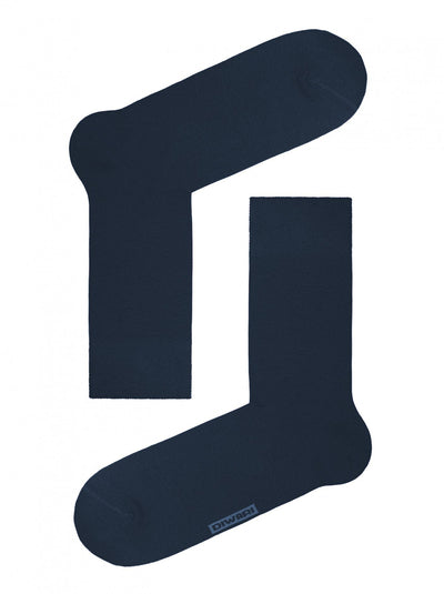 Dark-Blue Men's Bamboo Socks, Crew Socks by DiWaRi