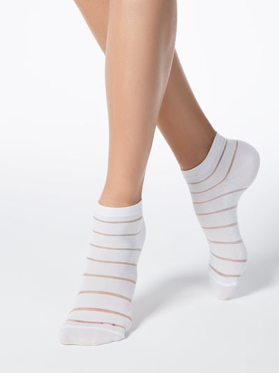 women's white ankle Socks by Conte Elegant