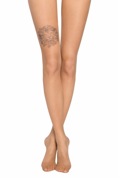 Tights TATTOO with a pattern Lion