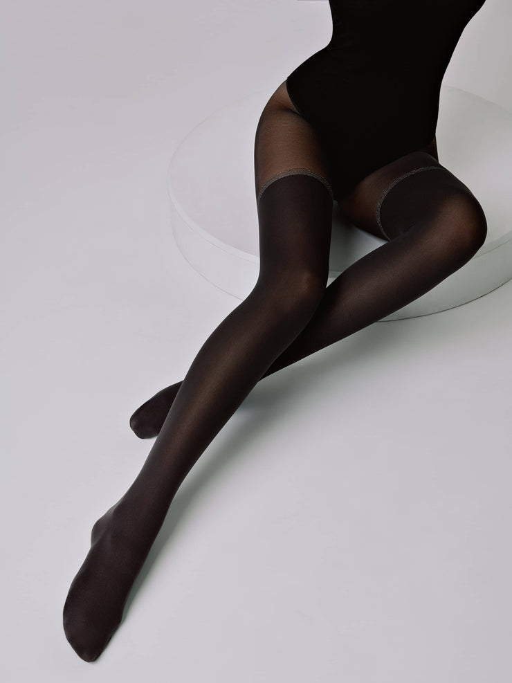 Blacks opaque tights with shine Lurex srtipe Conte