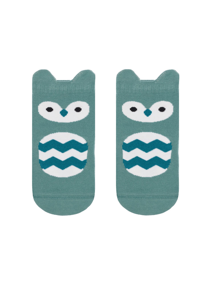 Owl baby socks light blue color by Conte-Kids