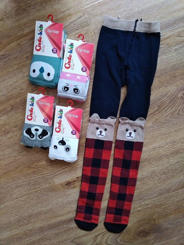 Baby patterned tights TEDDY BEAR