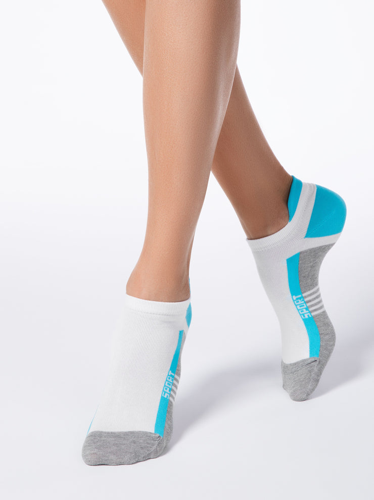 Soft & Breathable women's no-show socks Active by Conte Elegant. Short sport socks