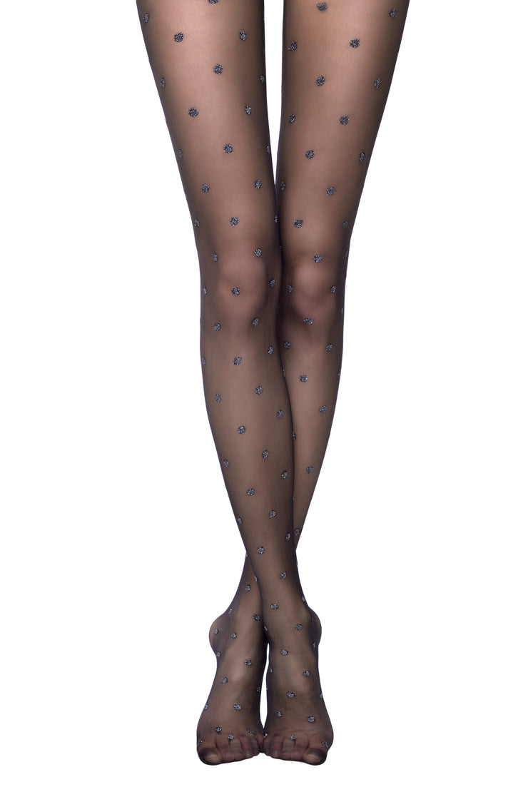 Shiny Polka Dot tights BRILLIANT 20 den