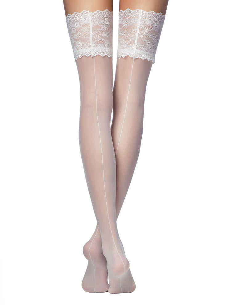 💘 20 denier Bridal Stockings Deluxe