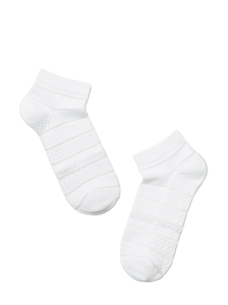 women's white ankle Socks with Lycra by Conte Elegant