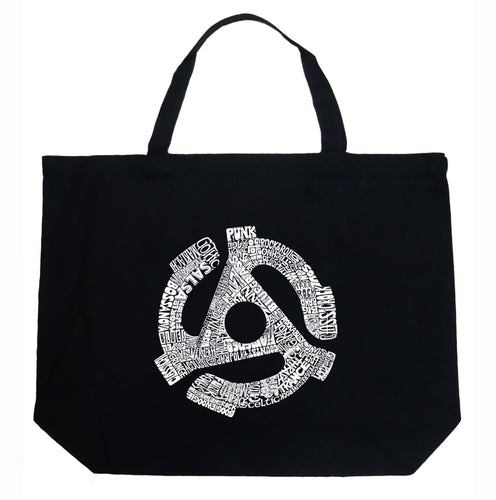 LA Pop Art Large Word Art Tote Bag - Record Adapter