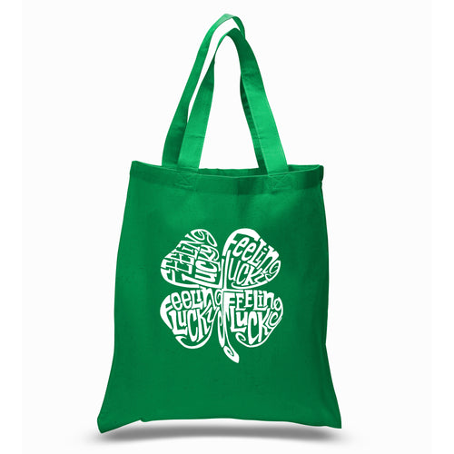 Limited Supply -  LA Pop Art Small Word Art Tote Bag - Feeling Lucky