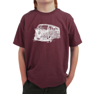 LA Pop Art Boy's Word Art T-shirt - THE 70'S