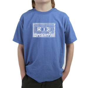 LA Pop Art Boy's Word Art T-shirt - The 80's
