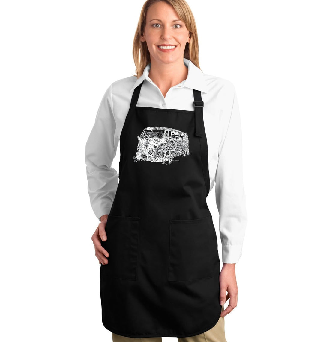 LA Pop Art Full Length Word Art Apron - THE 70'S
