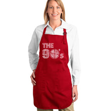 Load image into Gallery viewer, LA Pop Art Full Length Word Art Apron - 90S