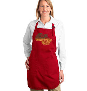 LA Pop Art Full Length Word Art Apron - Countries in Africa