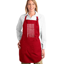 Load image into Gallery viewer, LA Pop Art Full Length Word Art Apron - National Anthem Flag