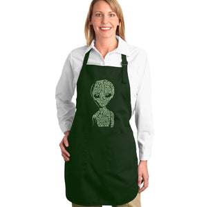 LA Pop Art Full Length Word Art Apron - Alien