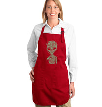 Load image into Gallery viewer, LA Pop Art Full Length Word Art Apron - Alien