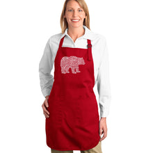 Load image into Gallery viewer, LA Pop Art Full Length Word Art Apron - Bear Species